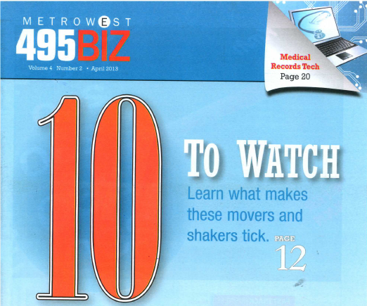 Brent Maugel Featured in MetroWest495 Biz 10 to Watch