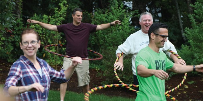 Hula Hoop Exercise Class
