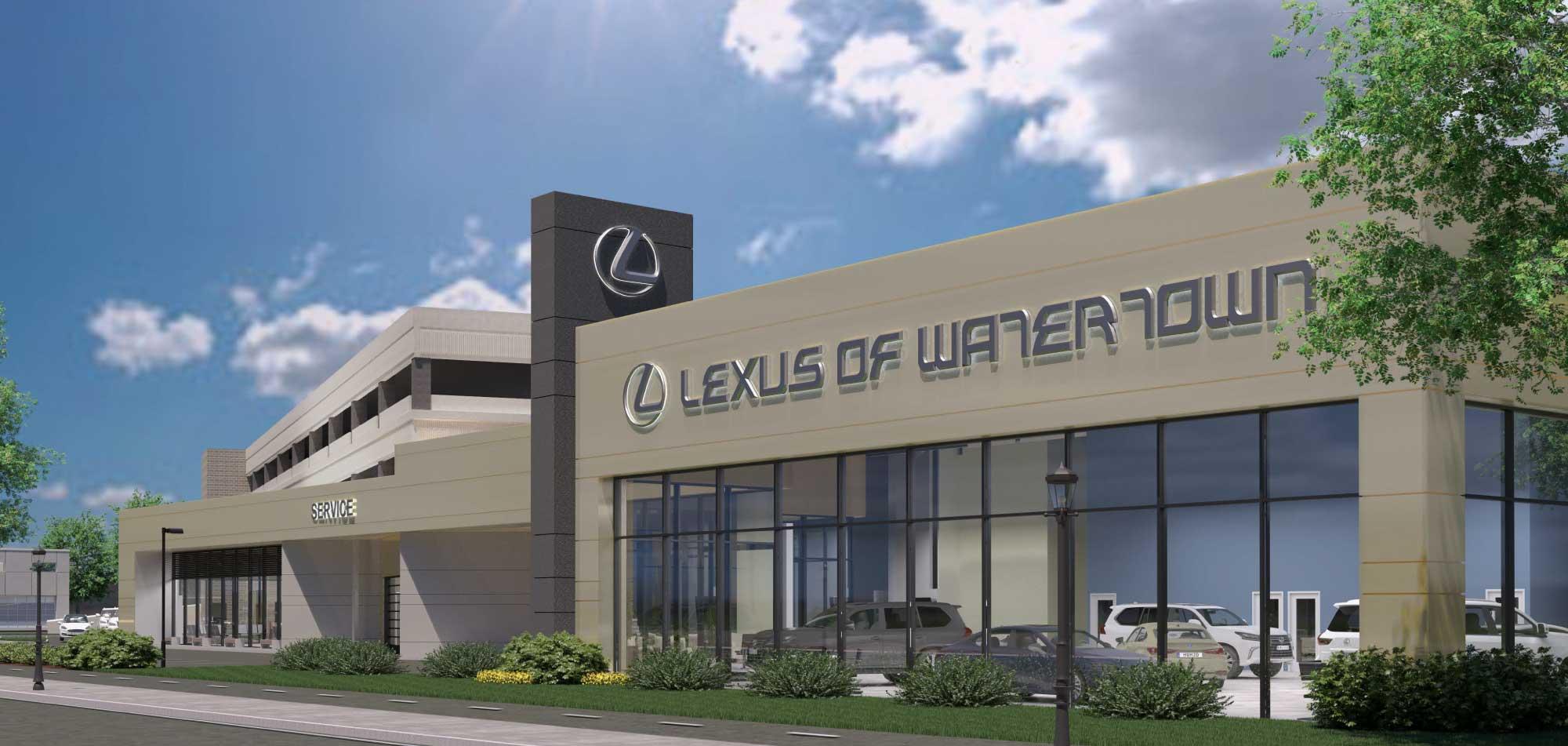 Lexus-of-Watertown_Branded-Facade-Improvements