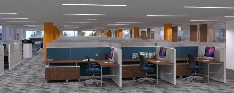 Workers Credit Union Interior Office Design
