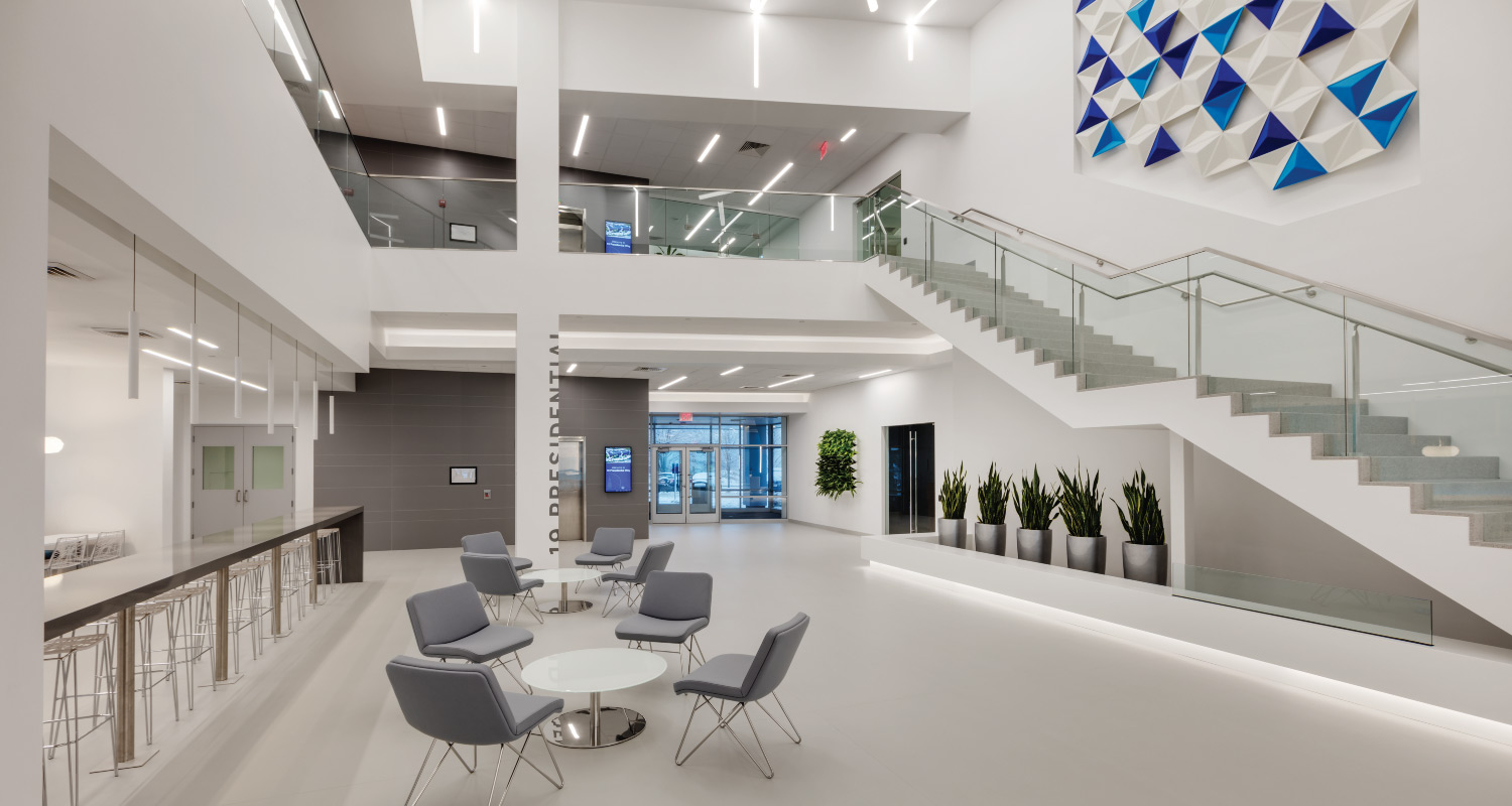 19 Presidential Way_Lobby Design_Maugel Architects