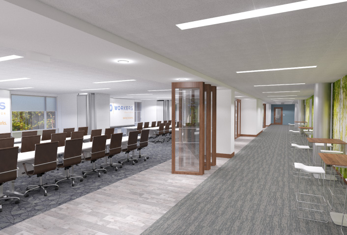 Construction Begins at Workers Credit Union 60,000 SF HQ