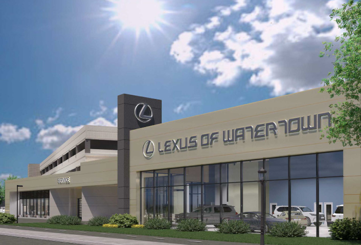 Construction Underway at Lexus of Watertown