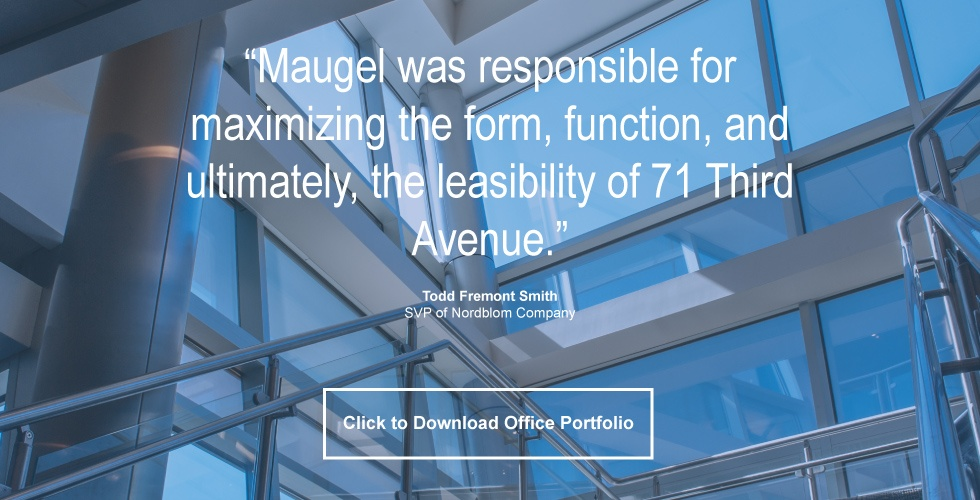 commercial office design maugel architects