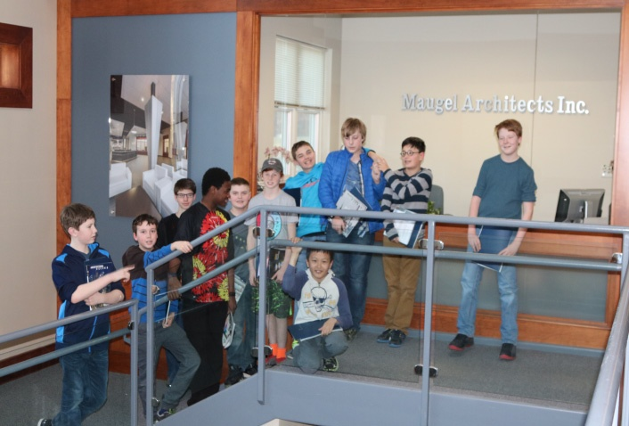 Boy Scouts Visit Maugel for Merit Badge