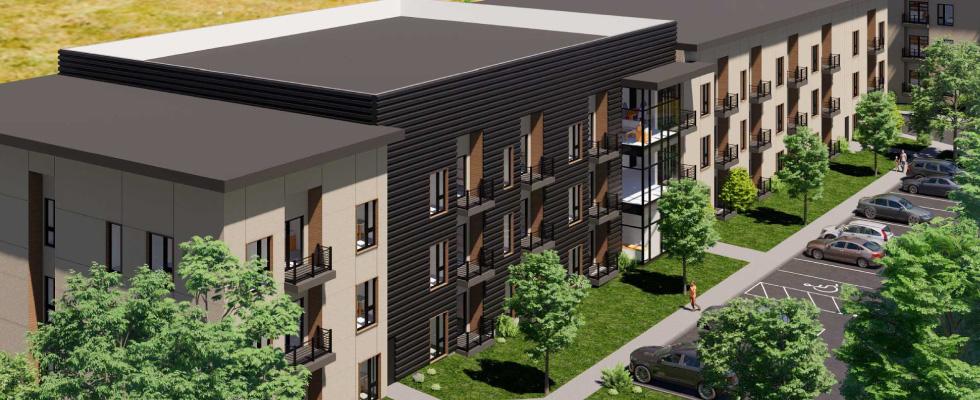 Brooks Street Multifamily Housing Design Worcester