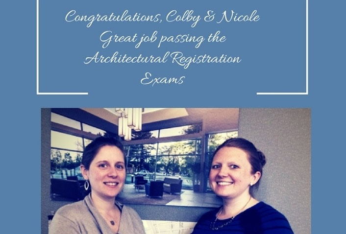 Colby Cavanagh and Nicole Kirouac Pass Architectural Registration Exams