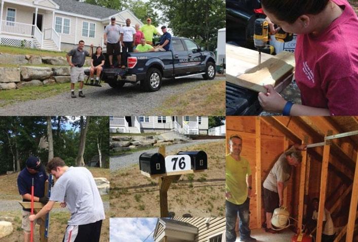 Maugel Volunteers with Habitat for Humanity