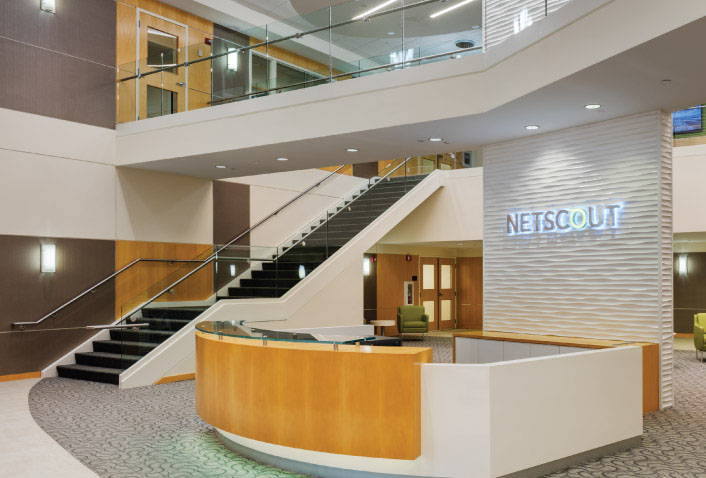 Maugel Completes Interior Design for NETSCOUT Systems